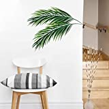 BLOUR Kreative einfache Blätter Wandaufkleber Wohnzimmer Wand Rand Wohnkultur entfernbare Tapete Wandecke Hintergrund Aufkleber