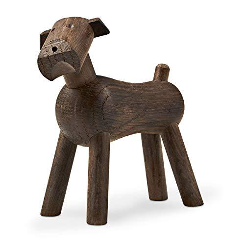 Kay Bojesen Hund Tim aus Holz, kleine Holzfiguren Deko, Elefanten Tier Deko Figur, Holzfiguren Deko, Räuchereiche