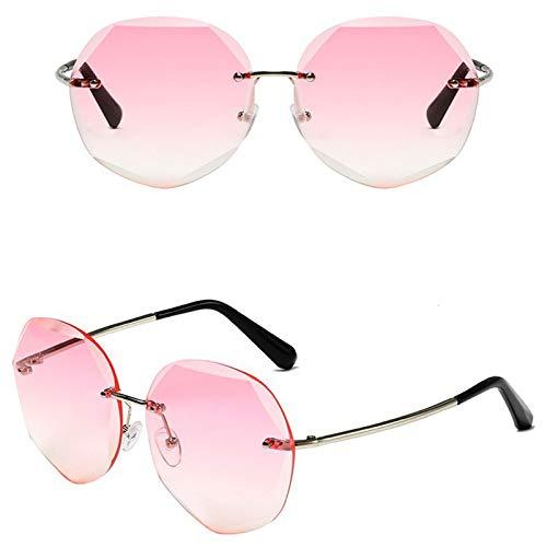 Ashtray Gafas de Sol graduadas para Mujer, Gafas de Sol sin Montura de Metal con Bordes Cortados, adecuadas para Conducir, Correr, Andar en Bicicleta, Viajar, etc,8