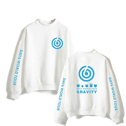 Kpop DAY6 WORLD TOUR Sweatshirt met Hoge Hals Unisex Pullover Lange Mouwen Coltrui Herfst Winter Hoodies Sweater Tops Top Blouse Uitloper Casual