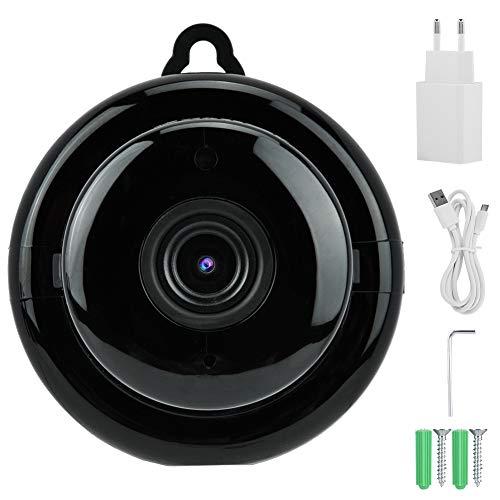 zcyg Cámara Cámara de vigilancia Cámara de Seguridad Mini Cámara, 100-240V Mini Smart Wireless WiFi IP Vision Web Vision Monitor De Red Remoto HD (Enchufe De La UE)
