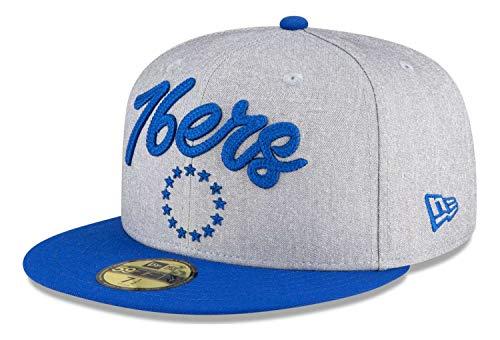 New Era - Berretto NBA Philadelphia 76ers 2020 Draft Edition 59Fifty, colore: Grigio/Blu grigio blu 7 5/8 (60,6 cm)