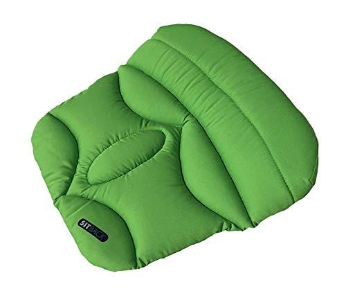 Sitback Basic Keilkissen Stuhlkissen Autositzkissen Universal, Apfel grün