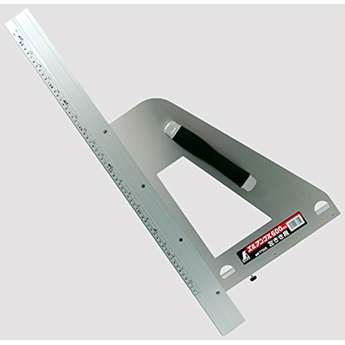 シンワ測定(Shinwa Sokutei) 丸ノコガイド定規 エルアングル 600mm 取手付き 左きき用 77805