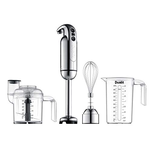 Dualit Hand Blender Set | Handheld Stick Blender With Chopping Bowl, Whisk & 1L Measuring Jug | 700W Polished With Turbo Speed | Perfect For Soup, Smoothies, Puree, Dip, Baby Food & Chopped Vegetables