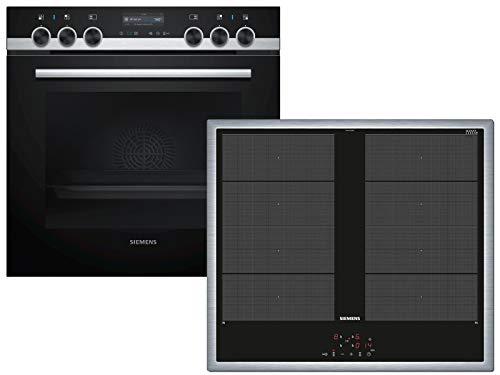 Siemens EQ561VA00 Set Einbauherd HE519GBS6 + Induktionskochfeld EY645CXB1E