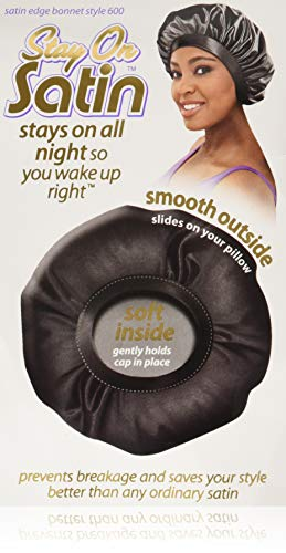 Cristina Stay On Satin Nites Bonnet Sleep Cap #600 by SATIN