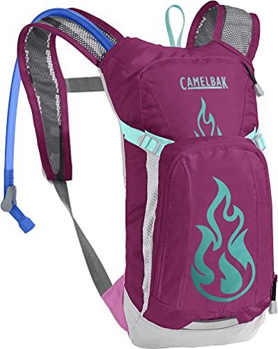 CamelBak Mini M.U.L.E. Kids Hydration Backpack, 50 oz, Baton Rouge/ Flames