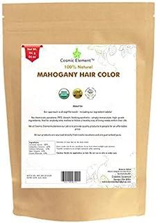 Cosmic Element USDA Organic Hair Coloring Powder with Assorted Shades (4oz, Mahogany)