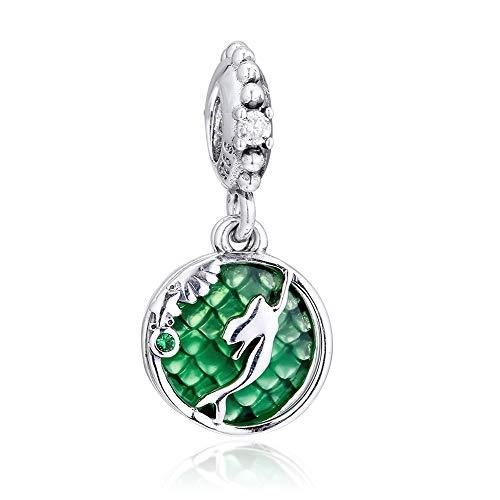 CHICBUY 2019 Autumn Ariel Hanging Bead 925 Silver DIY Fits for Original Pandora Bracelets Charm Fashion Jewelry