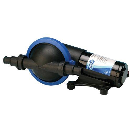 Jabsco 50880-1000 Marine Filter-less Shower Drain / Bilge Pump, 3.7 GPM, 3/4 inch connections, 12 Volt, 7 Amp,Black