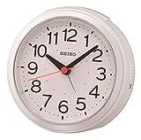 SEIKO Réveil Radio-piloté en Plastique Blanc 11,8 x 10,8 x 6,3 cm
