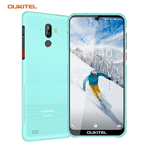 Rugged Smartphone Unlocked, OUKITEL Y1000 Drop Proof IP68 Waterproof Cell Phones, Android 9.0 3G Dual SIM 6.1inches Quad Core 2GB+32GB, 3600mAh Battery Fingerprint Face Unlocked Phones (Light Blue)
