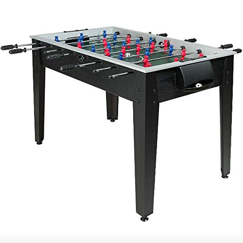 Black Foosball Table Soccer Game Table Arcade Game Table 2...