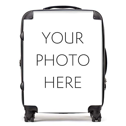 Personalised Suitcase | Personalise Your Luggage with Customised Photo or Design | TSA Lock 4 Spinner Wheels Large Expandable Case 78cm 95Ltr