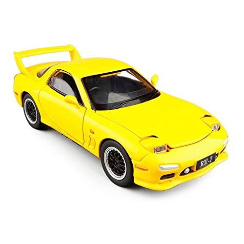 Vehículo Diecast 1:32 para RX7 Modelo De Coche De Juguete De Aleación Vehículo De Juguete De Simulación A Presión De Metal con Luz De Sonido Regalo para Niños (Color : Amarillo)