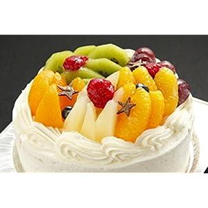 ロリアン洋菓子店 星に願いを≪あなたの願いが叶うよう・・七色フルーツケーキに願い事. フルーツパフェのようなまあるいケーキ!≫ 直径15センチ5号サイズ