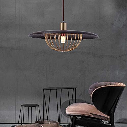 The only Good Quality binnenlamp, American Vintage, eenvoudige kop, kroonluchter, slaapkamer, woonkamer, bar, rustiek, restaurant, hotel, kunsthandwerk, ijzer, plafondlamp, goudkleurig, zwart, 40 x 40 x 20 cm