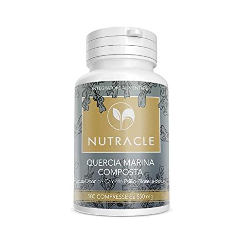 NUTRACLE Quercia marina (Alga Kelp) composta 100 compresse da 550 mg | Drenante, Stimola il Metabolismo e Transito Intestinale | Ricco di Iodio