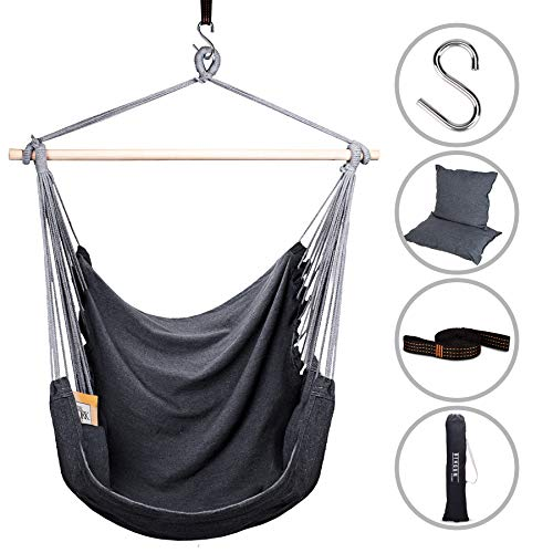 Bengum Hammock Chair Hanging Swing | Indoor and Outdoor Use | Large Swinging Seat Chair for Patio,...