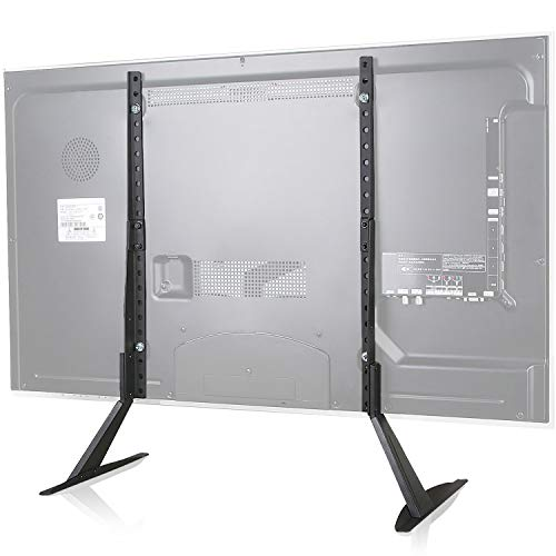 WALI Universal TV Stand Table Top for Most 22 to 65 inch LCD Flat Screen TV, VESA up to 800 by 400mm , Black (TVS001)