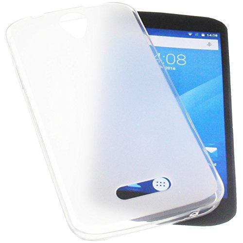 foto-kontor Tasche für Doogee X6 Gummi TPU Schutz Handytasche transparent weiß