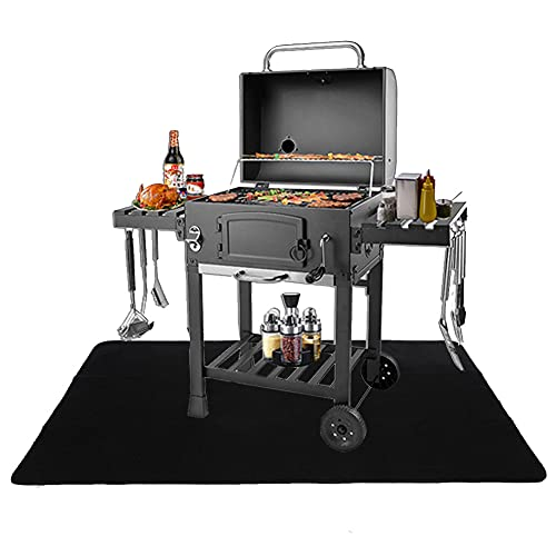 Kovshuiwe BBQ Grill Mat, Under The Grill Mat for Gas Protective,Electric Grill,Deck and Patio Mat...