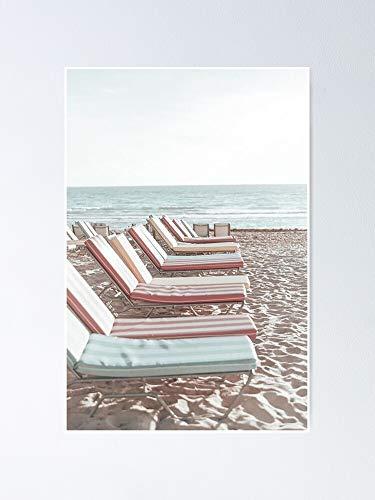 Póster vintage de silla de playa, para citas inspiradoras, impresiones de motivación, regalo de mujer, regalo para hombres, arte de pared de oficina, decoración de dormitorio.