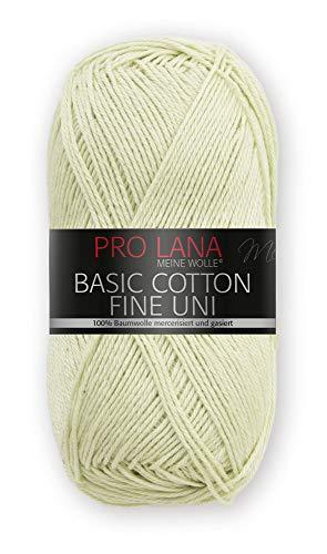 PRO LANA Basic Cotton Fine Uni - Farbe: Heu (71) - 50 g / ca. 175 m Wolle