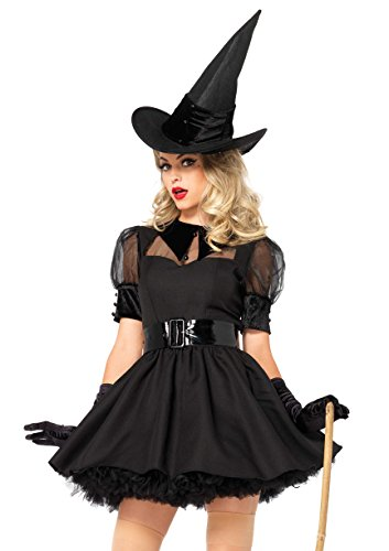 Leg Avenue Women's 3 Piece Bewitching Witch, black, Large
