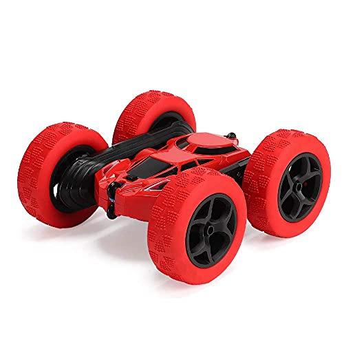 KTDT Coche de Control Remoto, 4WD RC Stunt Car 2.4Ghz Doble Cara Giratorio 360 ° Flips Racing Vehicles Truck, Juguete de Regalo para cumpleaños de niños (batería no incluida)
