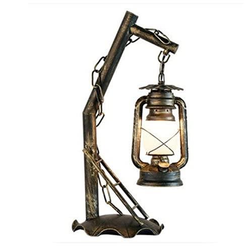 Lighfd Vintage Acento rústico Keroseno Dietz Linterna eléctrica Lámpara de aceite Edison DIRIGIÓ Bulbo Nightstand Escritorio Lámparas de mesa Desayuno Inn Lámparas Antigua Diseñador Luz Sitio de Estud