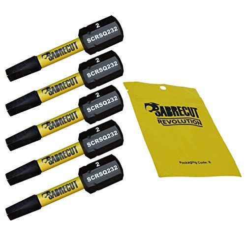 5 x SabreCut SCSQ232_5 32mm SQ2 Magnetischer Schlagschrauber-Bits, Quadratische Quadratischer Antrieb für Dewalt, Milwaukee, Bosch, Makita und mehr
