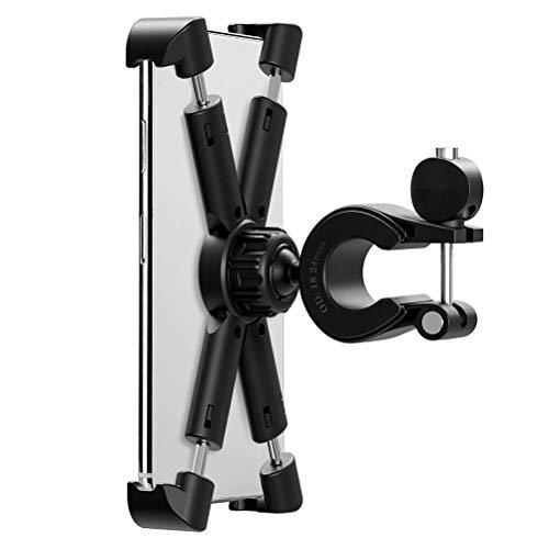 spier Soporte de soporte, soporte para teléfono de bicicleta, soporte ajustable para manillar de motocicleta, abrazadera para teléfono o scooter