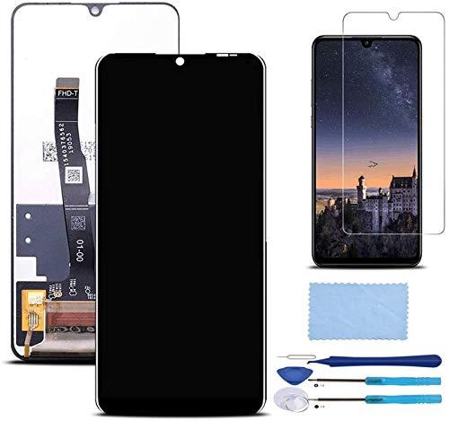 Pantalla LCD Táctil Asamblea Repuesto Compatible con Huawei P30 Lite/Huawei P30 Lite Nueva edición Negro con Herramientas + Película Templada