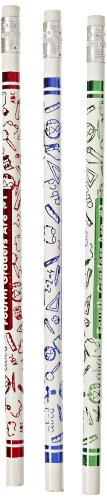 Moon Products Fourth Graders Are Number 1 Award Pencil - Pack of 12, White - 7864B