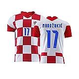 YouLpoet Camiseta Fútbol para Hombre Camiseta Insignia Bandera Retro País Torneo Aficionados Europeos Camiseta Fútbol Cuello Redondo,Red 5,M