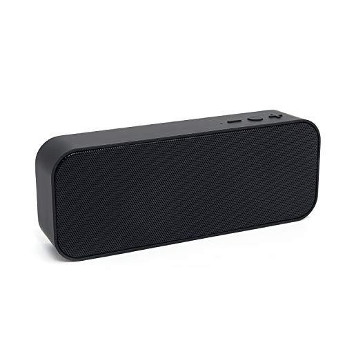 Portable Bluetooth Speaker Computer Speaker - Louder Volume & Stereo Sound Hi-Quality Sound & Bass Wireless Speaker for Home Office Desktop Outdoor Travel (Black