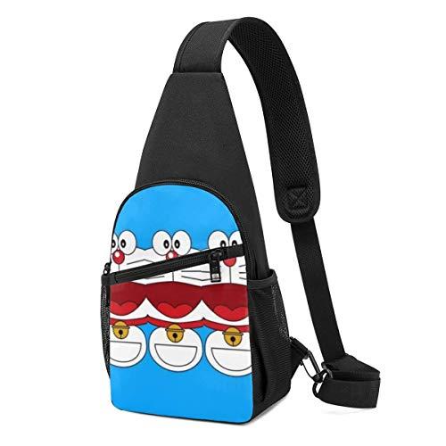 AOOEDM Sling Bag - Happy Doraemon Crossbody Sling Backpack Travel Hiking Chest Bag Daypack for Women Men