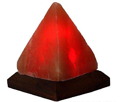 Himalayan Salt lamp Pyramid USB Multi-Colour Desk lamp