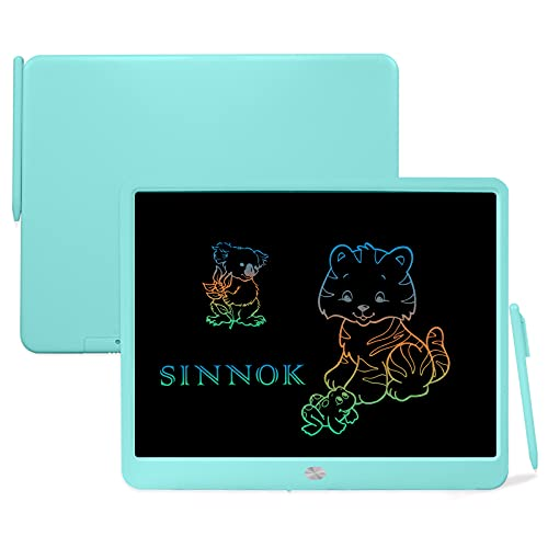 SINNOK 15 Inch LCD Writing Tablet, Toys for 3-9 Years Old Boys and Girls, Colorful Digital E-Writer Doodle Drawing Pad with Stylus, Electronic Graphic Handwriting Pad, Gift for Kids and Adults