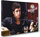 OneCanvas AL Pacino Scarface The World is Yours Canvas Print Poster Painting Photo Wall Art (12x18in.)