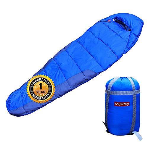 Trajectory Bonfire Polyester Sleeping Bag with Wallet and Phone Pocket (Royal Blue)