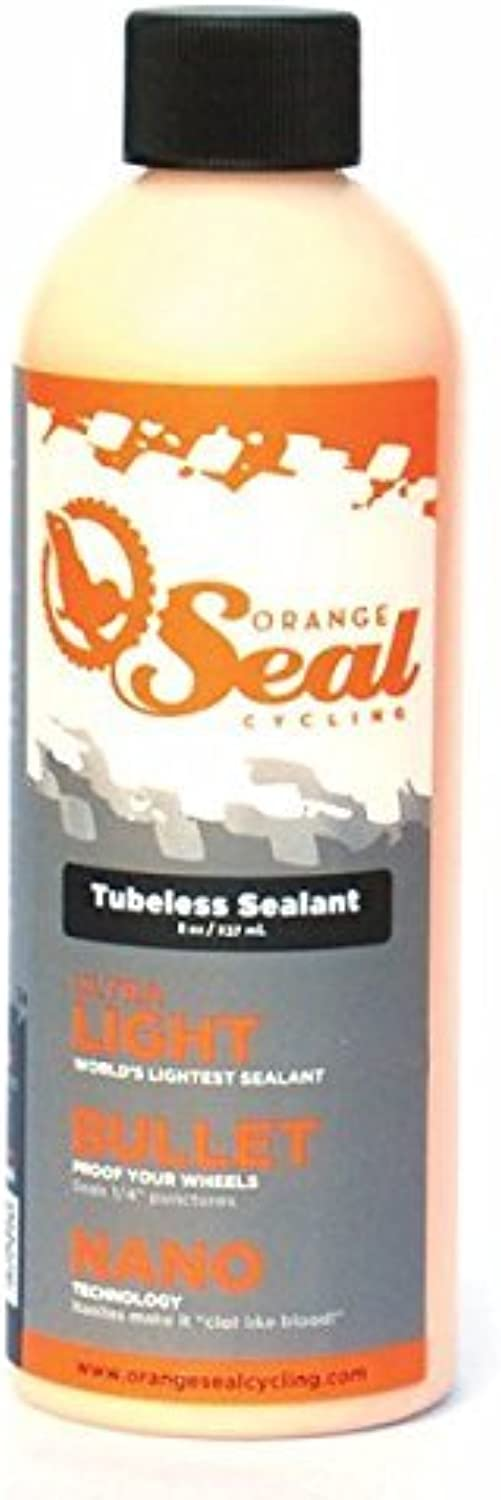 orangeSealCycling Tubeless Tire Sealant without Injector, 8Ounce by orangeSealCycling