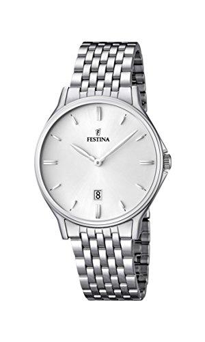 Festina Herren Analog Quarz Uhr mit Edelstahl Armband F16744/2