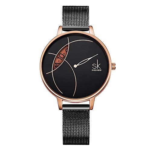 SK Women Watches Ultra Thin Quartz Watches Elegant Dress Girls Ladies Wristwatch (K0091L02SK)