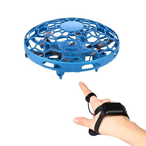 CANOPUS Mini UFO Drone Toy para Interiores y Exteriores, Control Remoto con Reloj de Pulsera, UFO Flying Ball, fácil de operar, Navidad, Regalo de cumpleaños para Principiantes, niños y Adultos