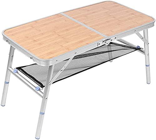 NFRMJMR Camping TeseaOutdoors Alojamiento Camping Mesa Plegable Aleación de Aluminio Picnic BBQ Tabla con Bolsa de carrurería Tableta Plegable portátilJajable para Barbacoa
