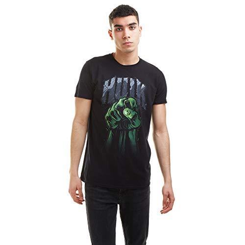 Marvel Hulk Fist Camiseta, Black, Medium para Hombre