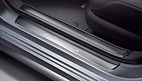 Mercedes Benz AMG Original Edelstahl Einstiegsleisten unbeleuchtet 2-Fach Fahrer/Beifahrer V 222 S Klasse Langversion/Langer Radstand ab Baujahr: 07/2013 inkl. Facelift 2017